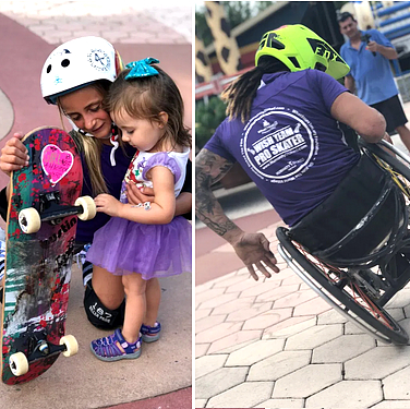 Humanity Stoked Skateboards and Smiles charity event at Give Kids The World